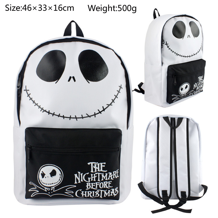 The Nightmare Before Christmas Canvas Backpack Shoulder School Bag Zipper Messenger Shoulder Bags