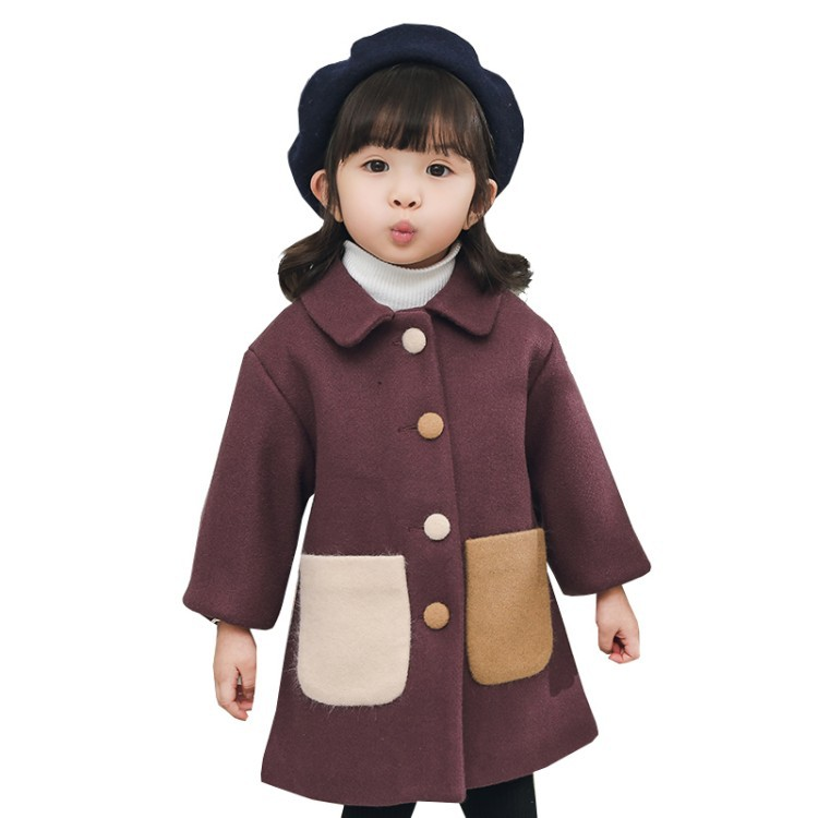 New Girls Retro Fur Coat Childrens Thickening Warm Pocket Coat Outerwear 1-2-3-4-5 YearsNew Girls Retro Fur Coat Childrens Thickening Warm Pocket Coat Outerwear 1-2-3-4-5 Years