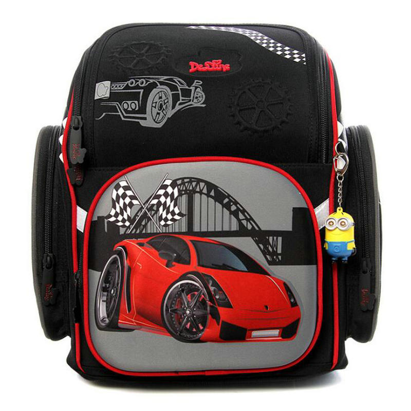 Delune Russian Designer 3D Cartoon Character School Bags 1-3 Grade Students Children Orthopedic School Backpacks For Girls Boys children school bag minecraft cartoon backpack pupils printing school bags hot game backpacks for boys and girls mochila escolar