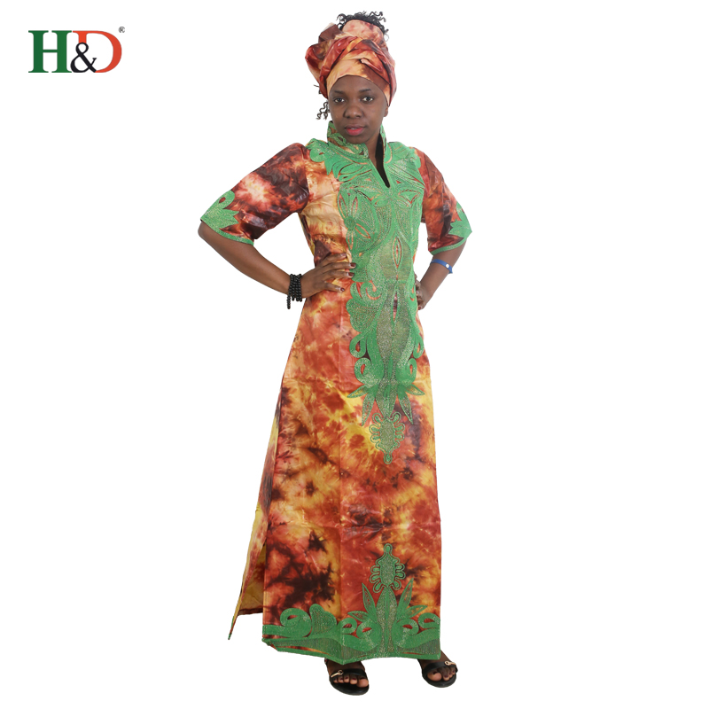 H D african clothes women dashiki print dresses robe africaine femme 2019 bazin  dress africa embroidery scarf outfit dress set 9295d16cb3b6