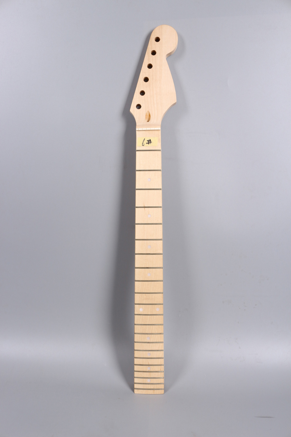 Electric guitar neck Maple and maple wood Fretboard 22 fret 25.5 no inlay nut width 43mm  heel 55-56mm 005# 1x electric guitar neck mahogany maple wood fretboard truss rod 22 fret 25 5