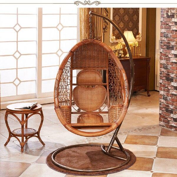 Caliente ocio idílico cesta de mimbre sillas colgantes nido exterior ...