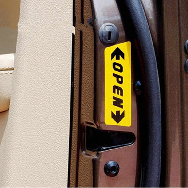 4 unids/set auto abierto cinta reflectante marca reflectante aviso abierto para Mitsubishi ASX/Outlander/EVOLUCIÓN DE Lancer/ pajero