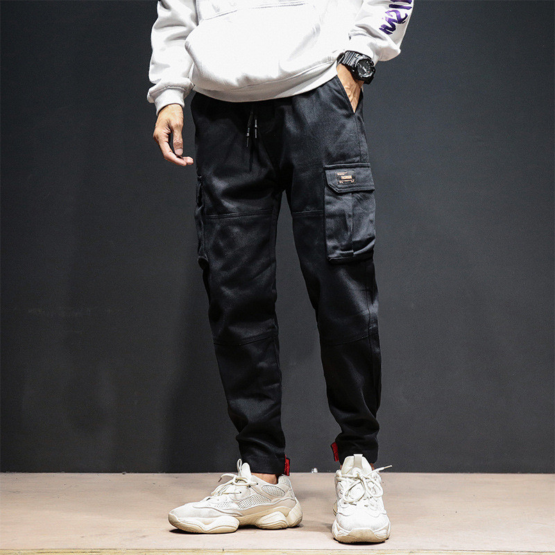 INS men and women Chic new men's pants wild multipocket hip hop JapanStyle trend streetwear thin section loose Tooling pants