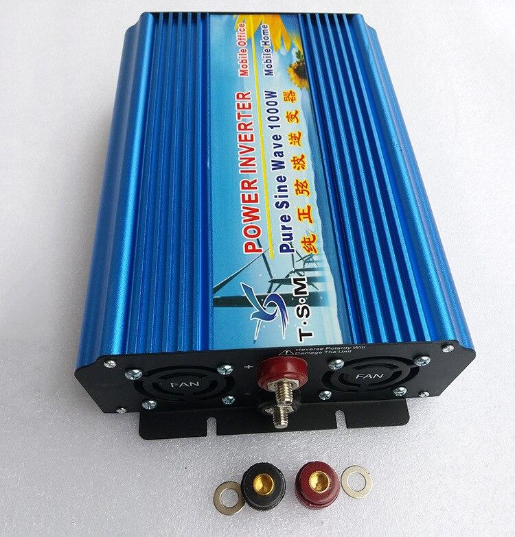 цена на digital display pure sine wave inverter 1KW 1000W DC12V TO AC110V 60HZ free shipping