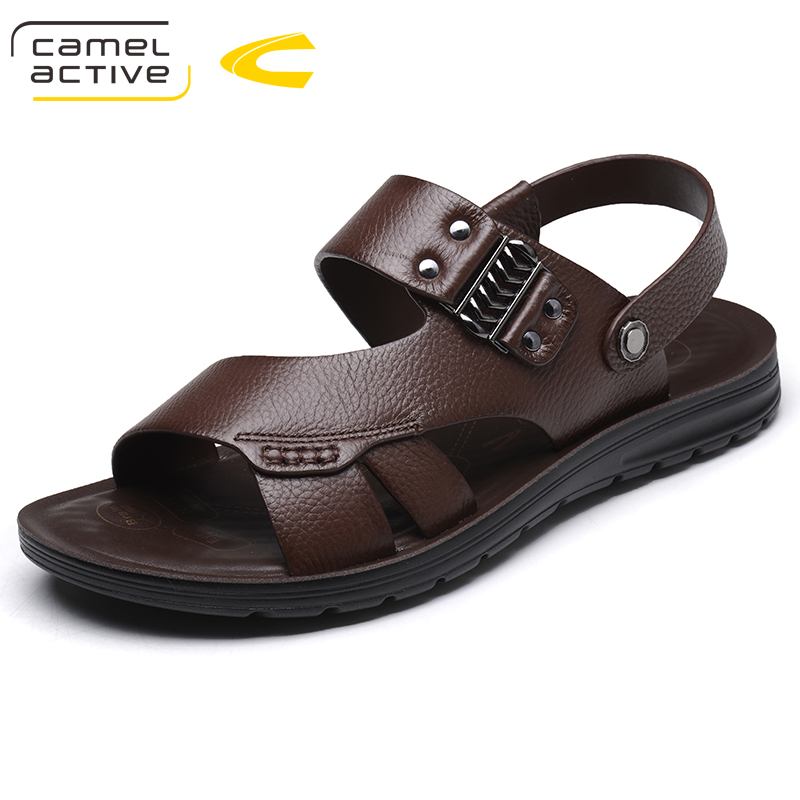Camel Active Brand Summer Beach Casual Men Shoes Sandals For Male Quality Genuine Leather Walking Comfortable Designer Sandals