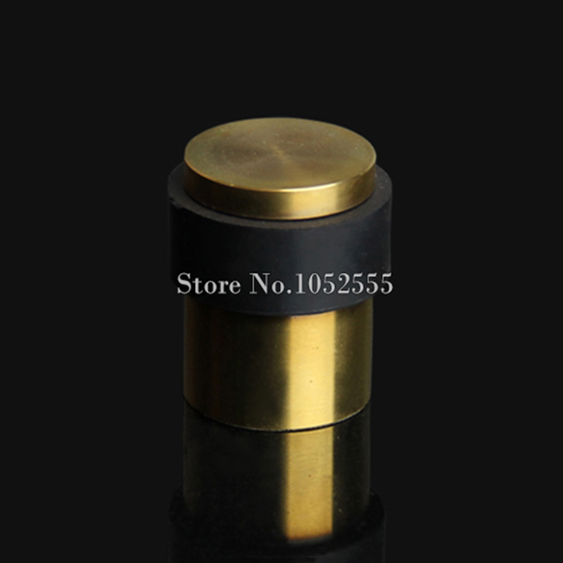 High Quality 2PCS/lot 304 Stainless Steel Casting + Rubber Door Stop Door Stopper Doorstops Wire Drawing/Drawing Gold E182 high quality stainless steel wire drawing water glass holder panel 1pcs for lexus 2016 rx200 rx450h accessories