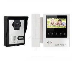 XINSILU Новое поступление домашняя охранная система внутренней связи 4-проводной ночного видения 4,3 дюйма с высоким разрешением видео-телефон ...