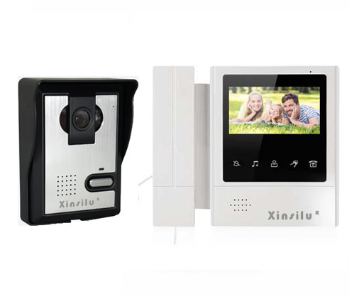 XINSILU New Arrival Home security intercom system 4-wired night vision 4.3inch high resolution video door phone for villa 1V1