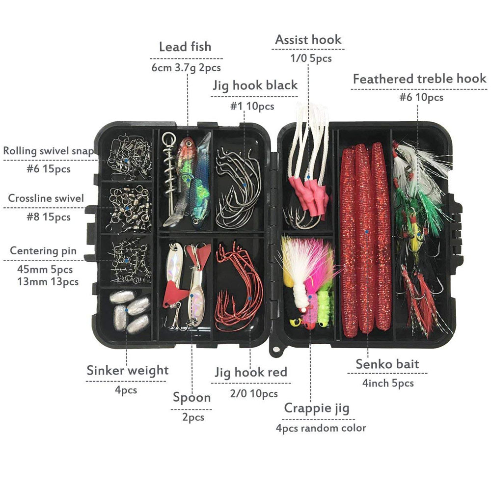 Kit d'outils combinés de canne à pêche ensemble de moulinet de canne à pêche télescopique avec ligne leurres crochets accessoires de sac de pêche - 4