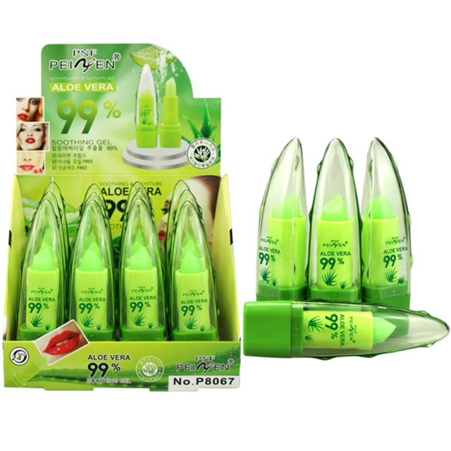 ALOE VERA Natural Temperature Change Color Fruit Flavors Lipstick Long Lasting Moisturizing Lip Makeup Health & Beauty