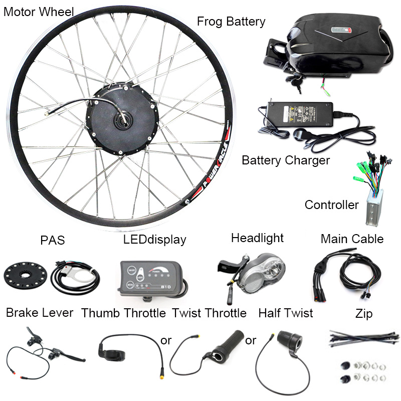 Cheap New DIY Kit 36V10Ah Battery 350W Electric Bicycle Motor Ebike Conversion Kits LED Display Motor Bikes Combination Apart Package 2