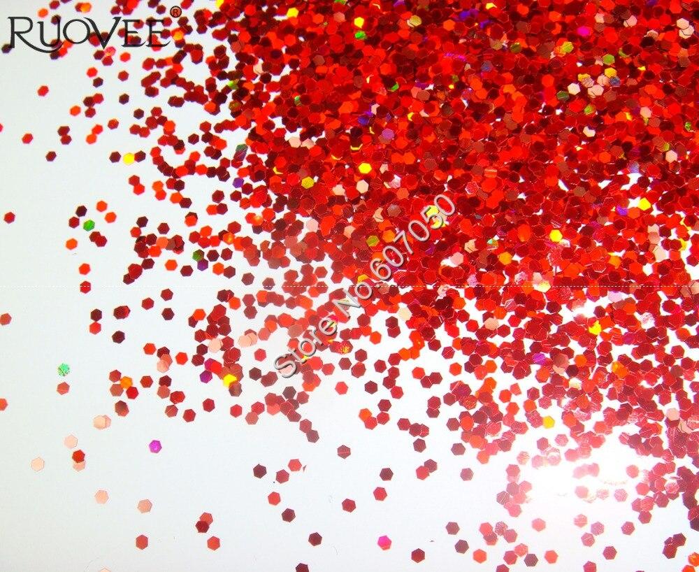 """50 г/пакет x 1 мм(1/2"""") Блестки для ногтей красная Ослепительная шестиугольная палитра блесток форма для дизайна ногтей и блестки для ногтей"""