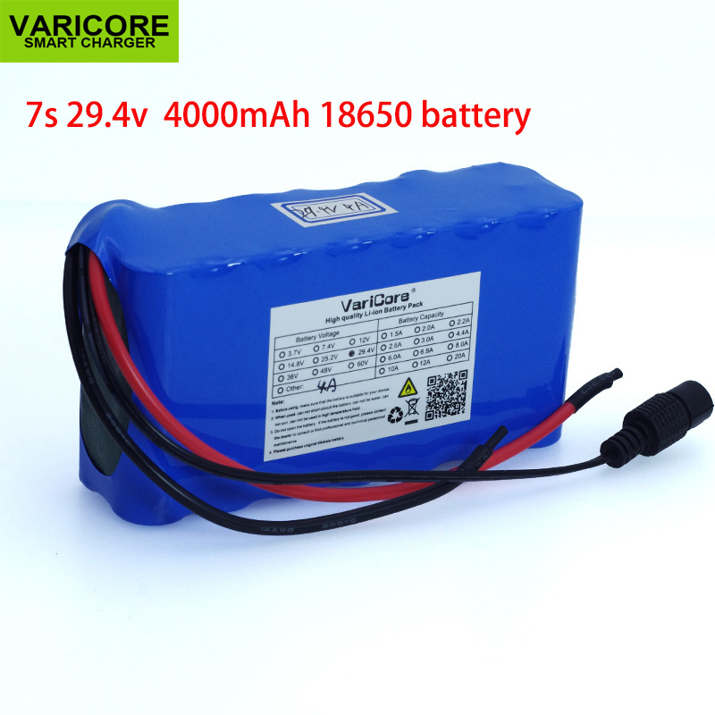 24V 4Ah 7S2P High Power 18650 Battery li-ion battery 29.4v 4000mAh electric bicycle moped /electric/lithium ion battery pack купить в Москве 2019