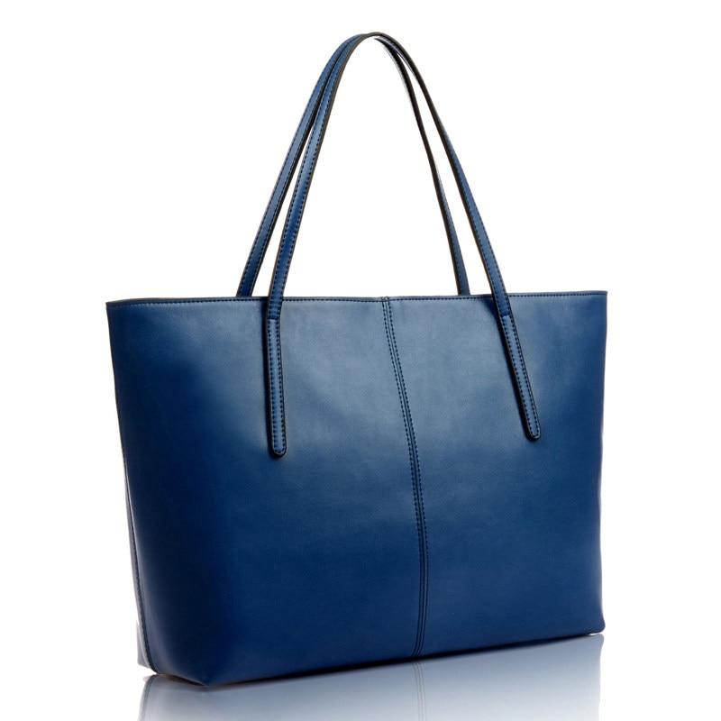 Durable PU Tote Designer Simple Thin Straps Women Shoulder Bag Utilitarian Large Capacity Ladies Concise Large