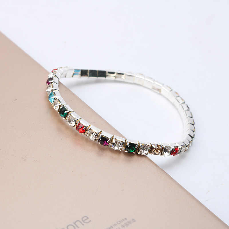 ... Luxury Rhinestone Stretch Bracelets Stylish Multilayer Elastic Crystal  Bracelets For Women Girl Bling Wedding Party Jewelry ... 028dc90eaa1d