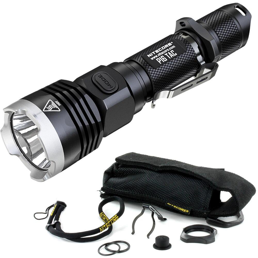 2019 Nitecore P16TAC 1000LMs CREE XM L2 U3 LED lampe de poche tactique chasse étanche Portable lampe torche sans 18650 batterie - 2