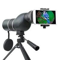 Telescopio Monocular Lente 12-36X 50A/60A 15-45X Zoom Pájaro ver HD Óptica Teléfono Cámara de Visión de La Lente Ocular + Ajustable trípode