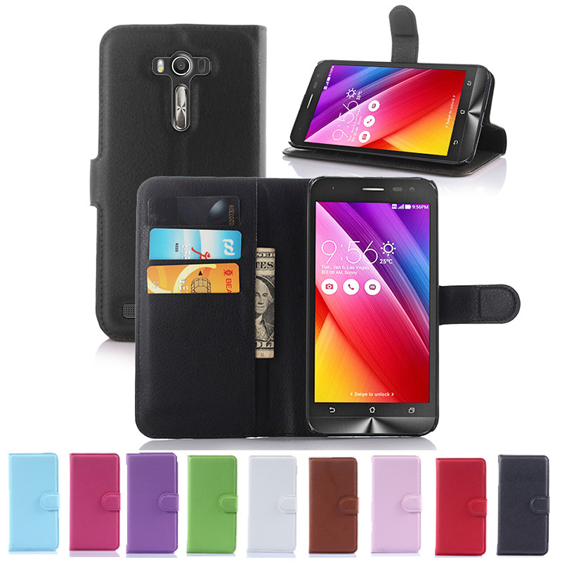 Lyxig plånbok Flip PU-läderfodral för Asus Zenfone 2 Laser ZE500KL - Reservdelar och tillbehör för mobiltelefoner - Foto 2