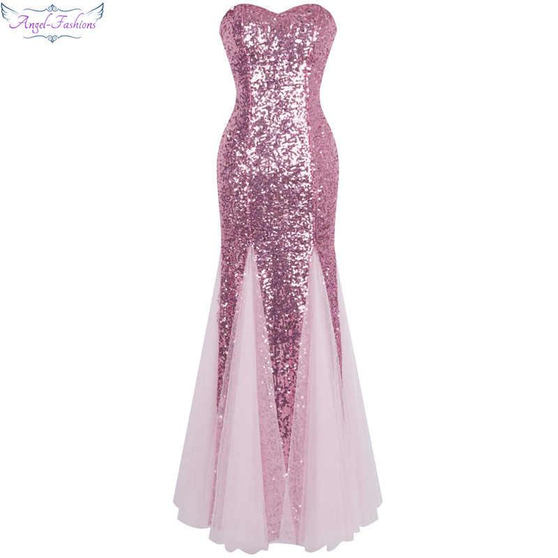 b3ee330f886 Модные Винтажные Длинные вечерние платья из тюля с блестками и открытыми  плечами abendkleider 053