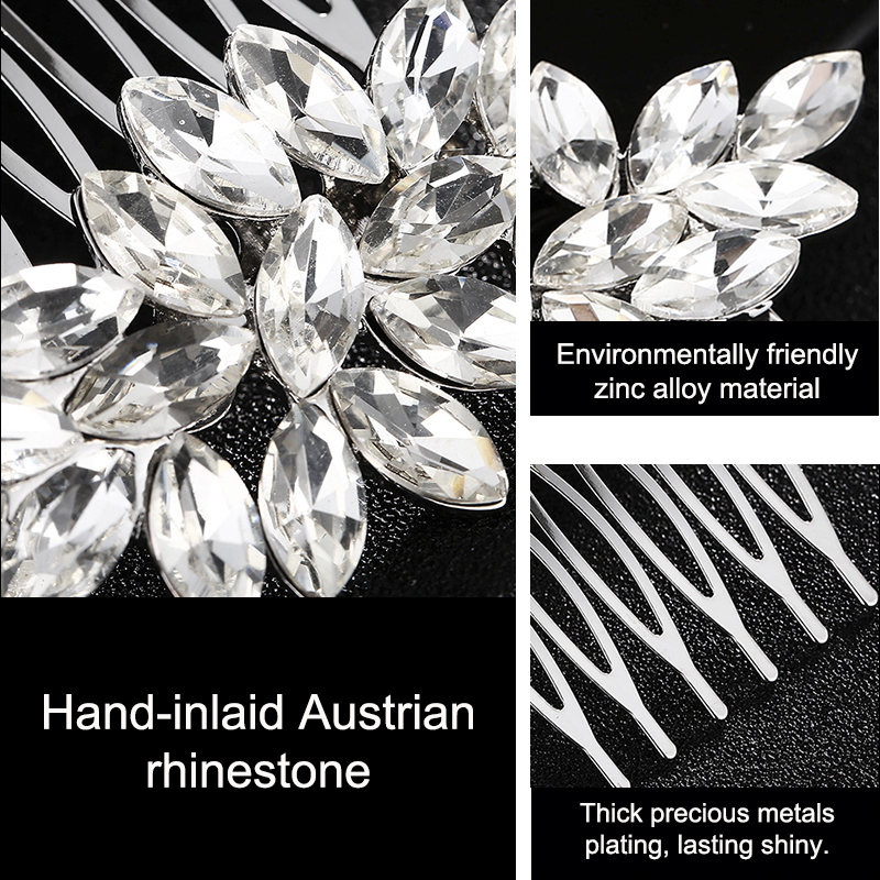 Miallo Fashion Hair Comb Woman HairPins For Bridal Bridemaid Wedding Headwear Party Accessories Silver