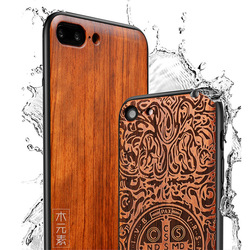 2019 New For iPhone 8 Case iPhone 8 Plus Slim Wood Back Cover TPU Bumper Case For iPhone 7 Phone Cases 7 Plus 2
