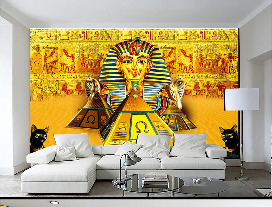 Popular pyramids wallpaper buy cheap pyramids wallpaper for Egyptian mural wallpaper