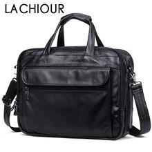 Модная мужская офисная сумка из натуральной кожи А4, деловая повседневная мужская дорожная сумка, 17 дюймов, сумки на плечо для ноутбука, портфель
