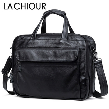 Fashion Genuine Leather Men A4 Office Bag Handbag Business Casual Men's Travel Bag 17