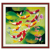 SHANSHIYOUPIN Vietnam Style Fish Pictures 5D DIY Diamond Painting Cross Stitch Mosaic Embroidery Flower Home Decor