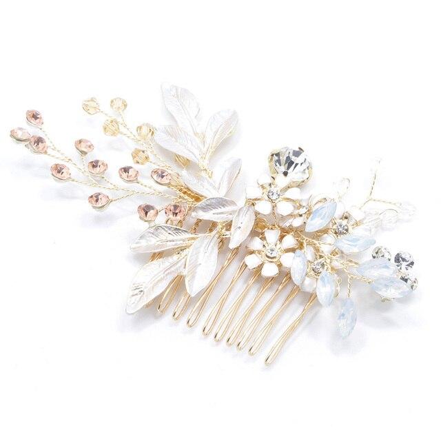 Floral Crystal Hair Pins 5