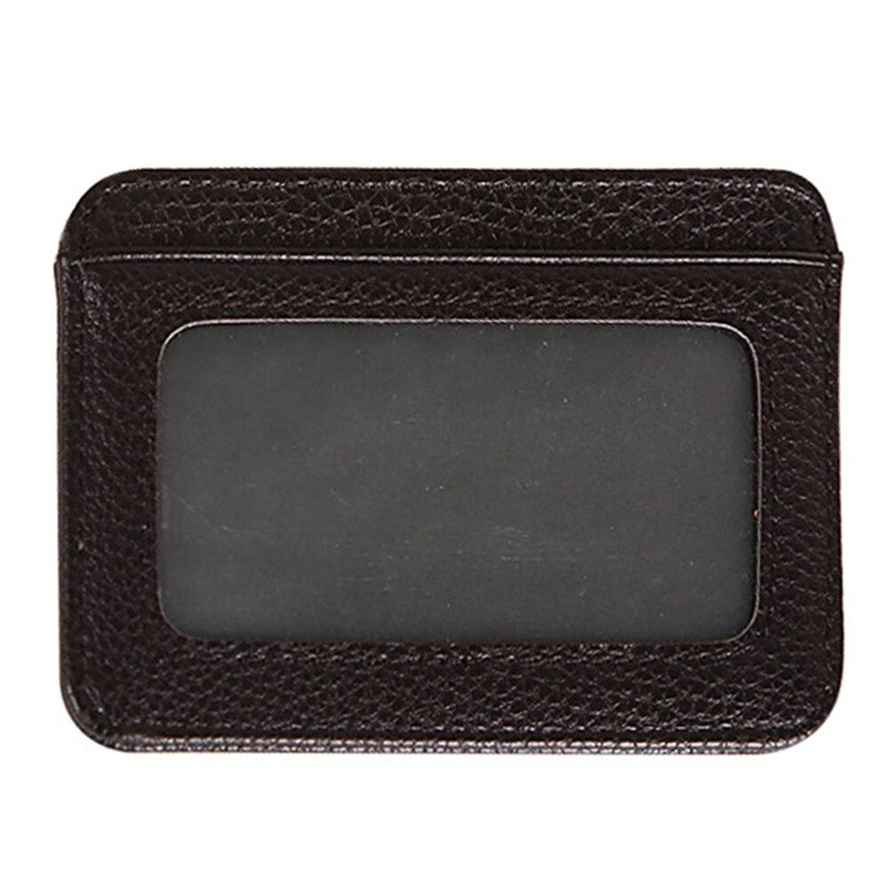 Mens Blocking Test Wallet Holder Leather Card PU Slim Front Pocket Ultra-thin Mini