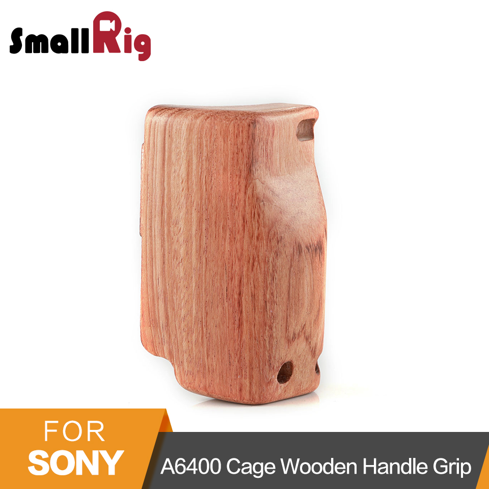 SmallRig a6400 Camera Cage Wooden Handle Grip for Sony A6400 Cage Quick Release Wooden Handgrip 2318