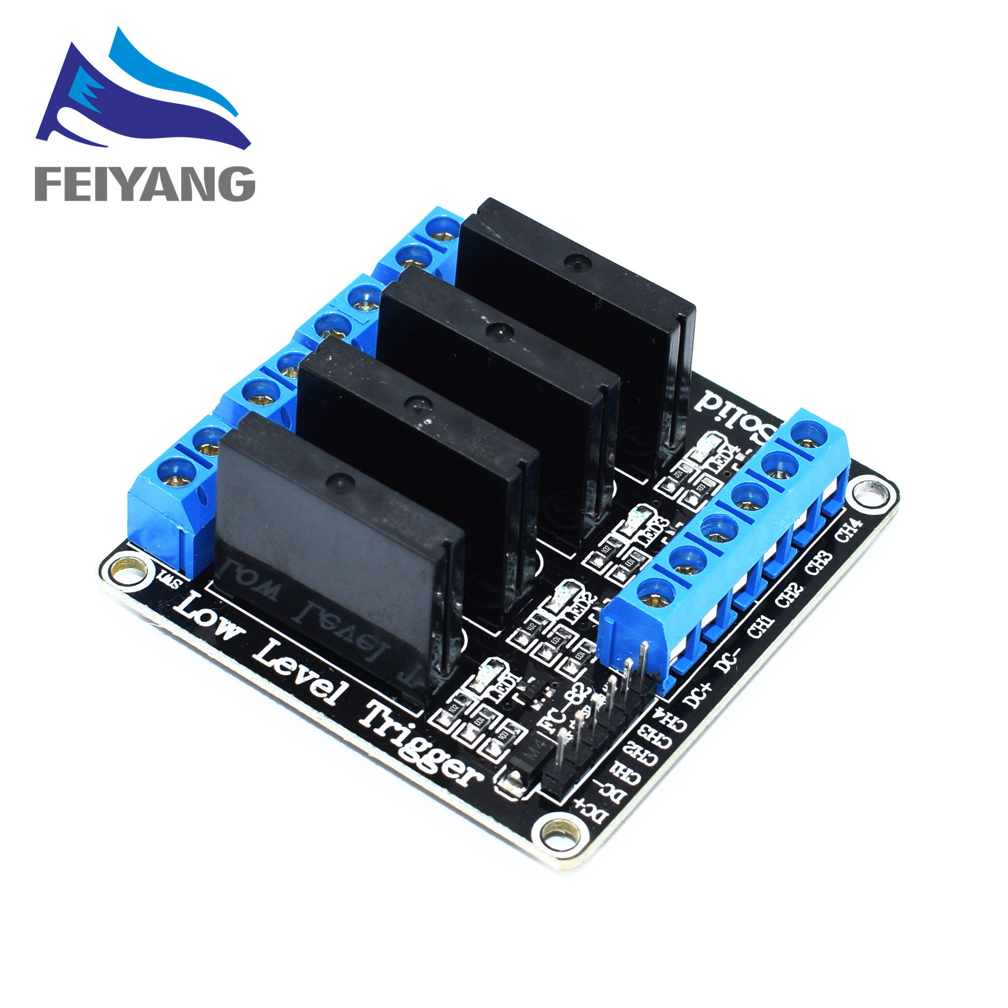 4 Channel 5V DC Relay Module Solid State Low Level SSR AVR DSP 2A 240V(China)