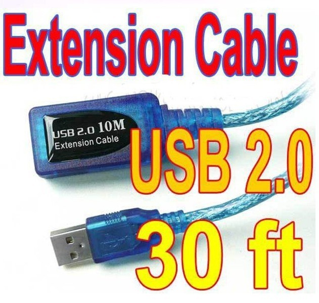 Freeshipping  30ft USB 2.0 A Male to Female ACTIVE Extension Data Cable 10M