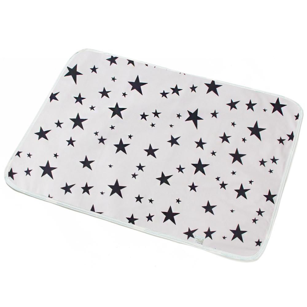 Baby Changing Mat Cover Waterproof Pad for Newborn S/M/L/XL Waterproof Mattress Bed Sheet Infant Play Door Mat Cotton Wet Pad | Happy Baby Mama