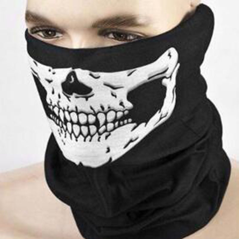 Halloween Mask Festival Skull Masks Outdoor Motorcycle Bicycle Multi Function Neck Warmer Ghost Half Face Mask Scarf