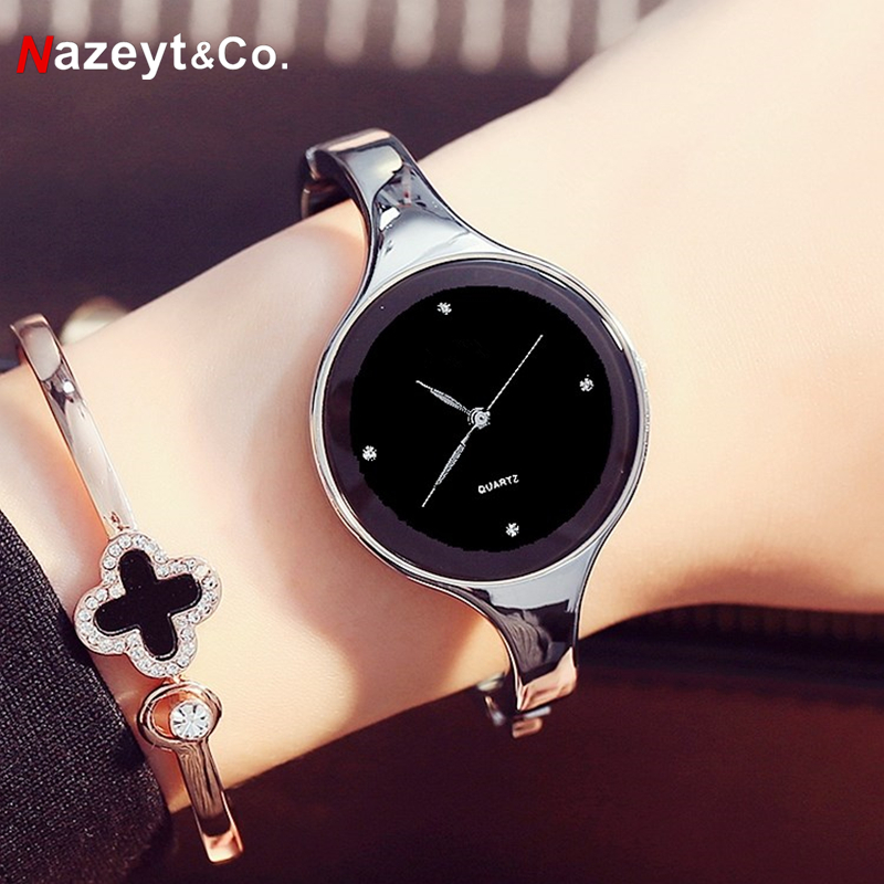 Nazeyt Women Bracelet Watches Crystal Dial Dress Gift Watch Ladies Fashion Quartz Wristwatch Female Relogio Feminino