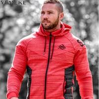 2017 New Brand Autumn Winter Bodybuilding Hoodies Men Animal Gyms Sweatshirts Long Sleeve Cotton Sportwear Fitness
