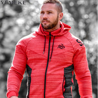 2017 New Brand Autumn Winter Bodybuilding Hoodies Men Animal Gyms Sweatshirts Long Sleeve Cotton Sportwear Fitness