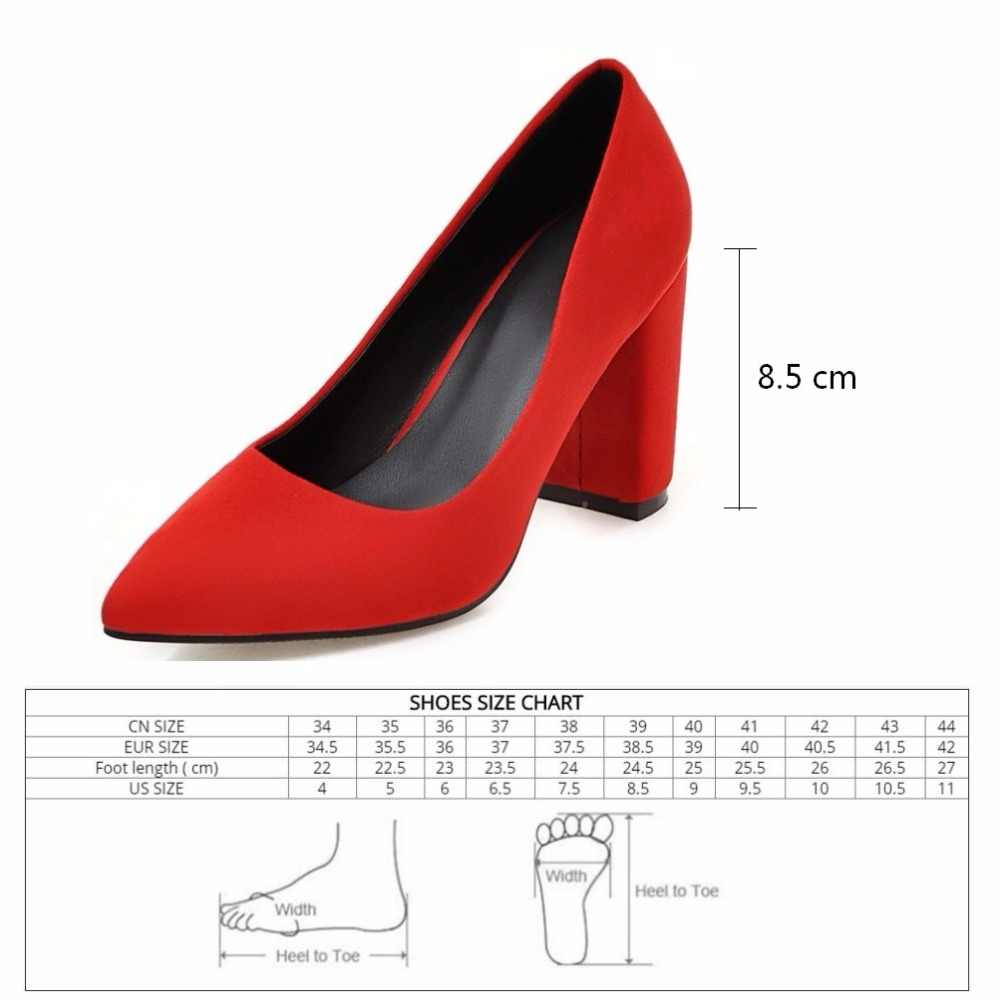 563e3c2c8 ... Women Pumps Ruffles Spring Autumn Shallow Pointed Toe High heel Shoes  yellow Flock Square Heels Pumps