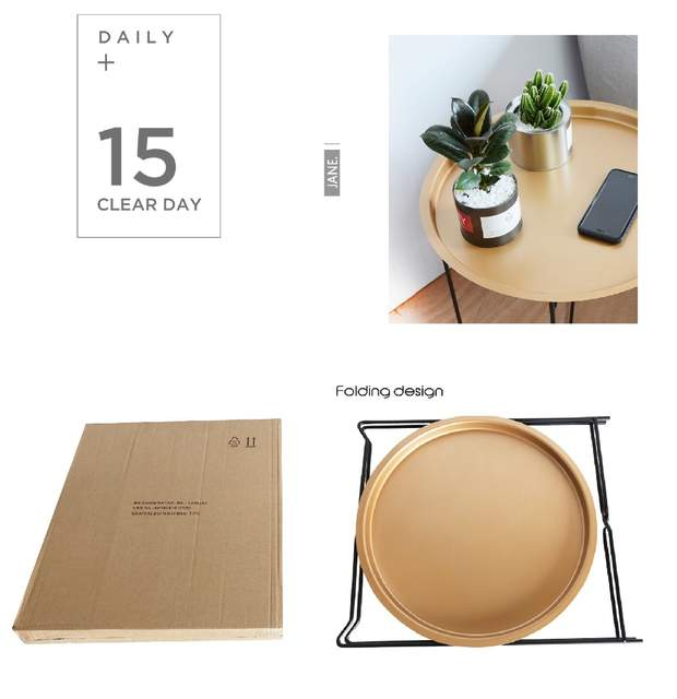 Astonishing Nordic Golden Black Wrought Irontray Small Table Simple Sofa Edge Wrought Iron Tray Table Coffee Folding Small Round Table Gmtry Best Dining Table And Chair Ideas Images Gmtryco