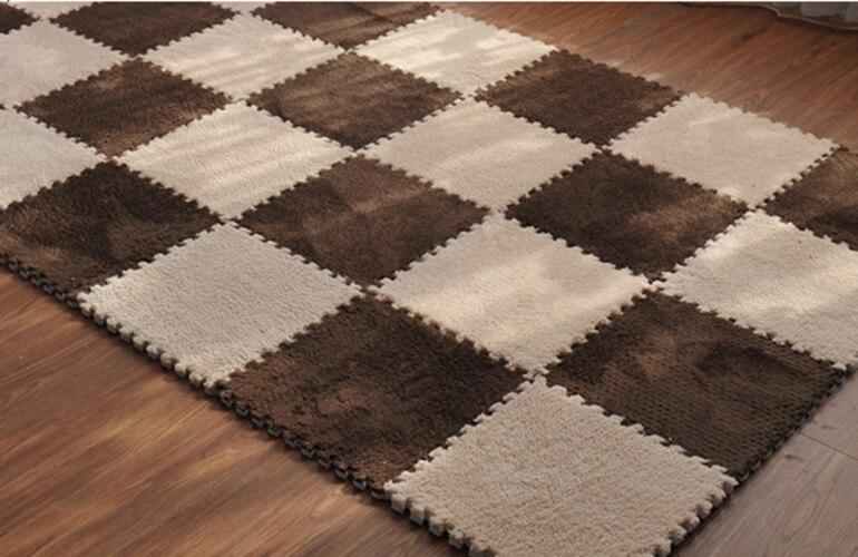 Besplatna dostava 8pcs meka puzzle beba puzati mat EVA ispucao tepih - Tekstil za kućanstvo