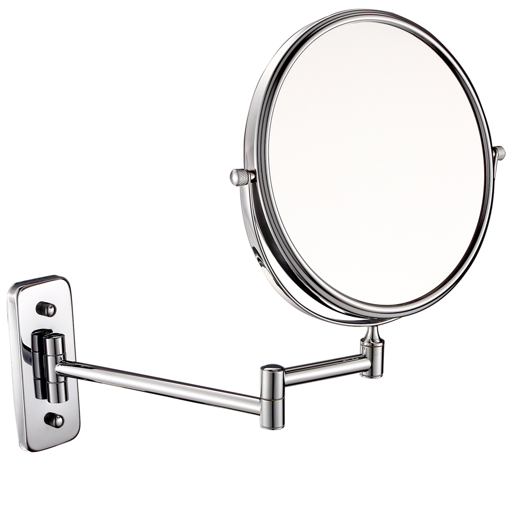 Gurun Makeup Mirror-Round Brass 8 Inch 10X magnifier Cosmetic Mirror Two-sided Wall Mounted Mirror compact blank M1407 brass wall mounted ribbon lamp 8 5 round double side cosmetic mirror silver 220v page 8