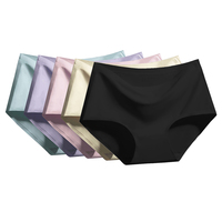 5 Pcs Sexy Panties Women Seamless Panties Solid Underwear Women lingerie Ice Silk Soft Cozy Briefs Femme