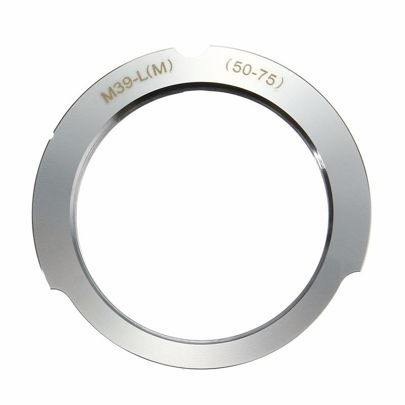 Camera Adapter New For Leica M39 Screw Mount LSM LTM L39 Lens To for Leica M 50-75mm aluminium Camera parts leica m