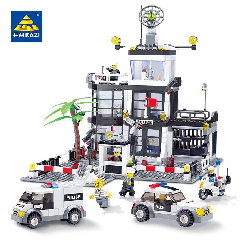 631Pcs City Police Command Post Central Building Blocks Sets LegoINGs Figures Bricks Playmobil Educational Toys for Children