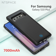 NTSPACE Power Bank Charger Cover for Samsung Galaxy S10 Plus Charging Case 7000mAh Extenal Battery S10+