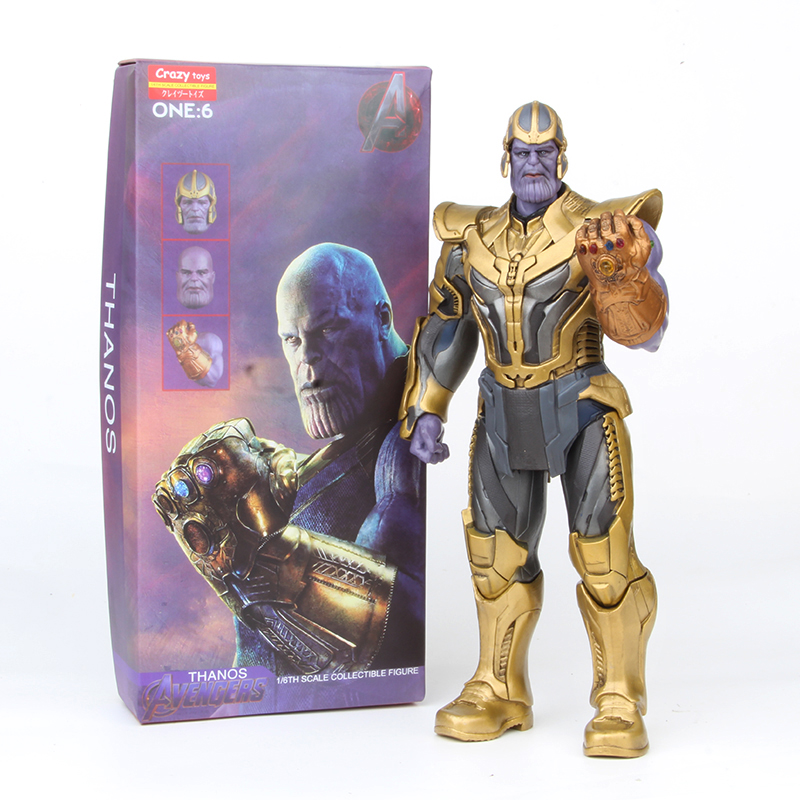 Crazy Toys Avengers Infinity War Thanos ONE:6 PVC Action Figure Collectible Model Toy