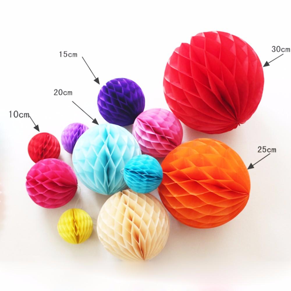 Tissue Paper Honeycomb Ball Birthday Party Decorations Birthday 5pcslot Paper Lanterns Tissue